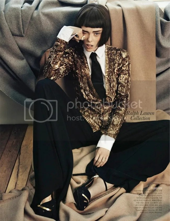 Editorial ELLE Korea Iconic Coco Coco Rocha shot by Hong Jang Ralph Lauren Collection