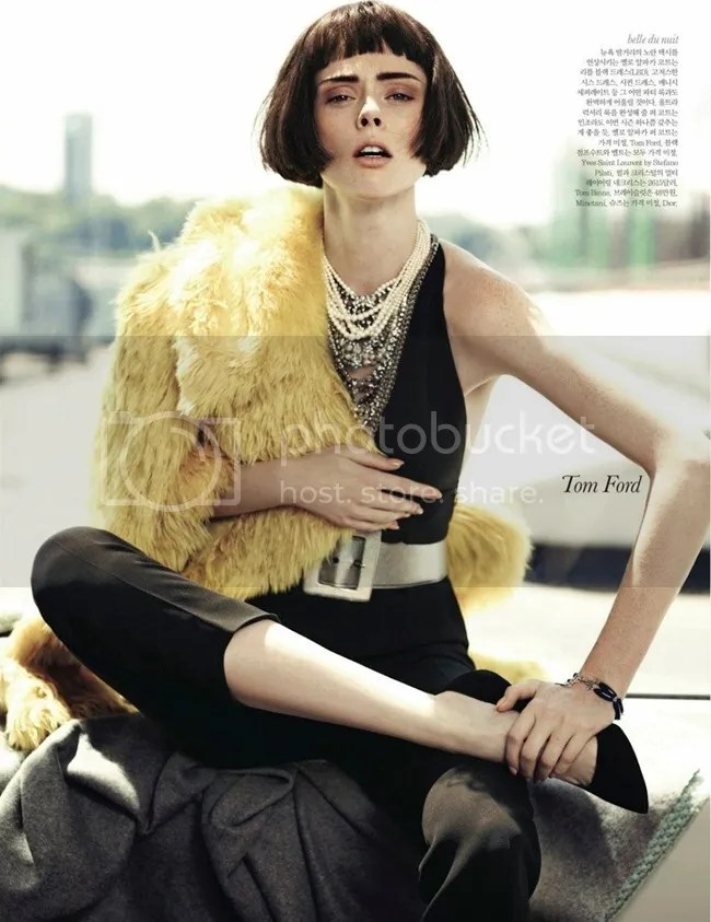 Editorial ELLE Korea Iconic Coco Coco Rocha shot by Hong Jang Tom Ford
