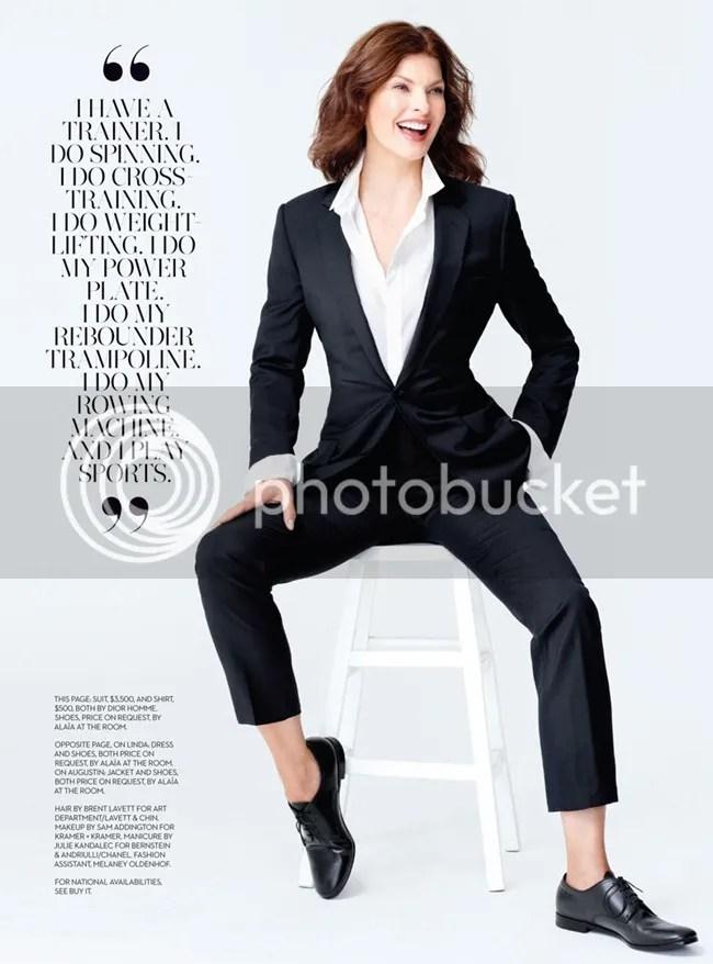 Fashion Magazine Linda Evangelista shot by Pamela Hanson