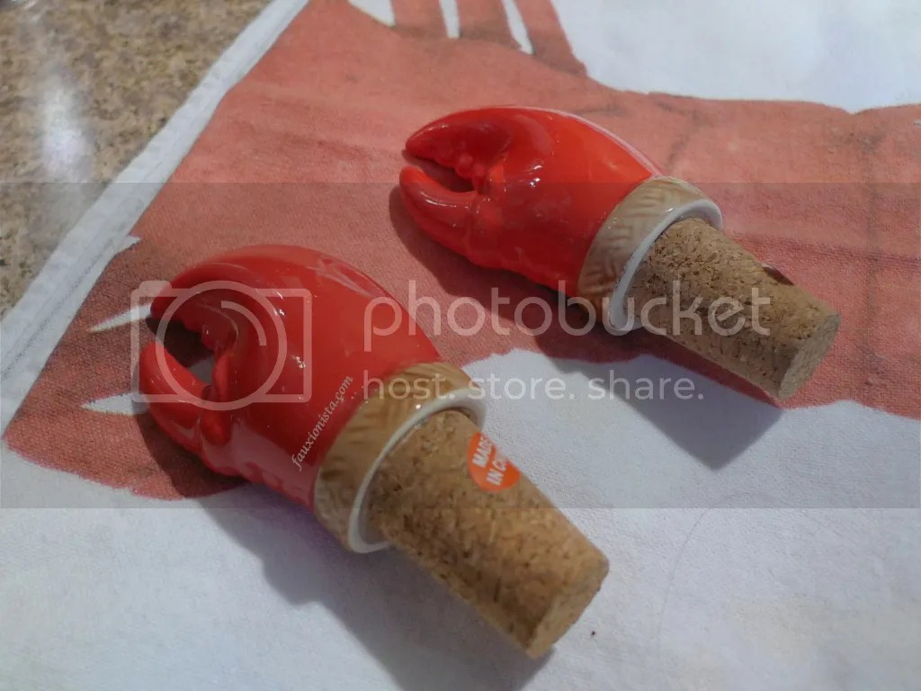 Lobster claw wine stoppers