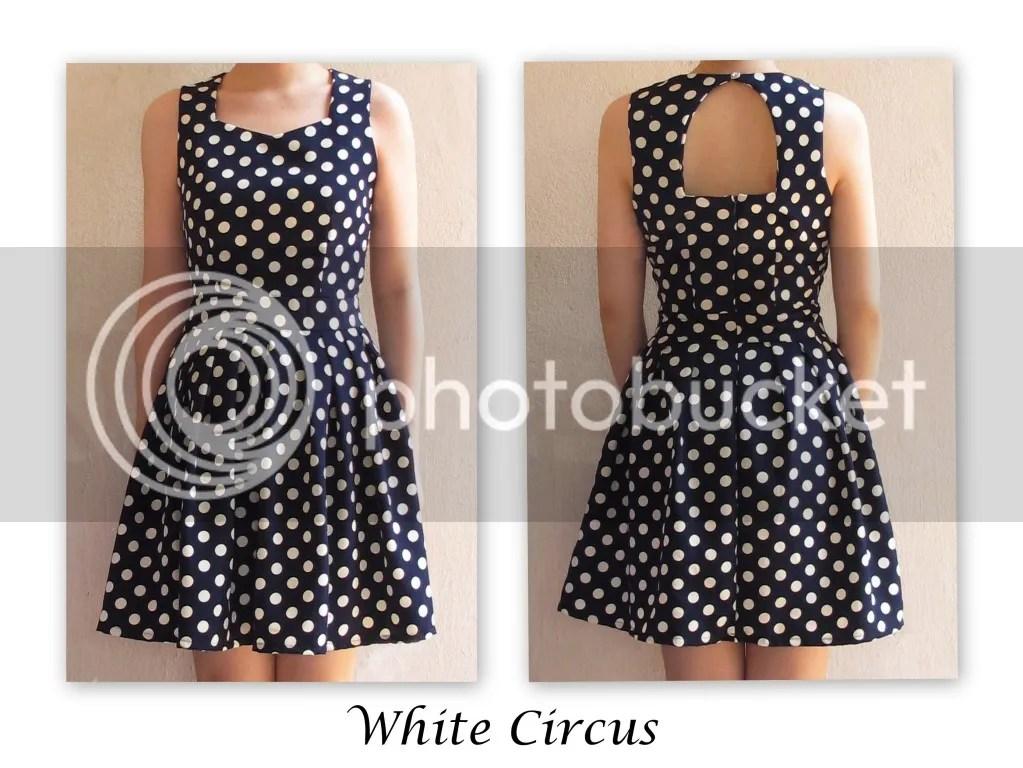 White Circus 50s Polka Dot Dress