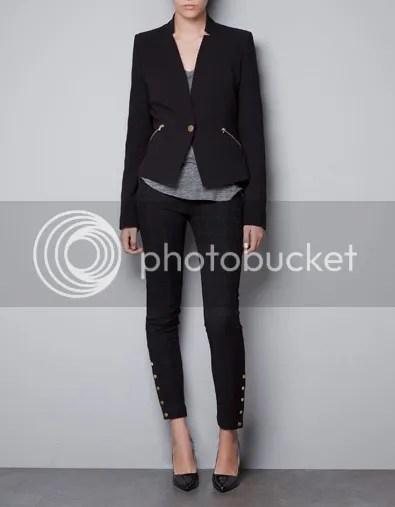 ZARA TRF Blazer with Zips