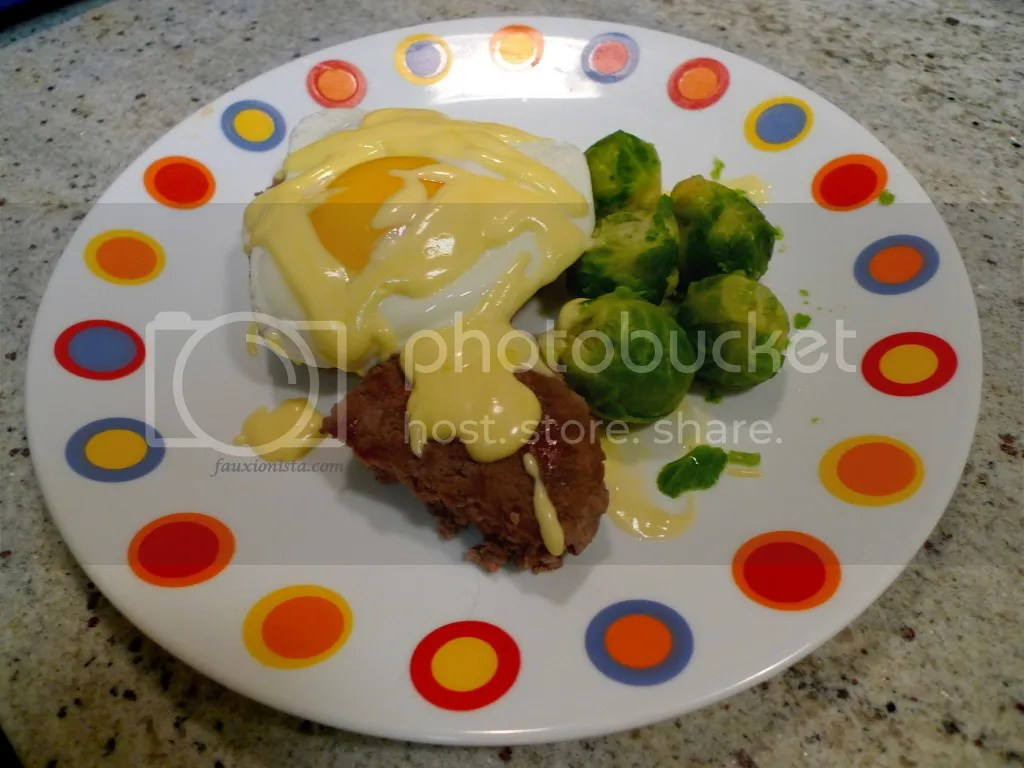 Eggs Benedict Burger Paleo