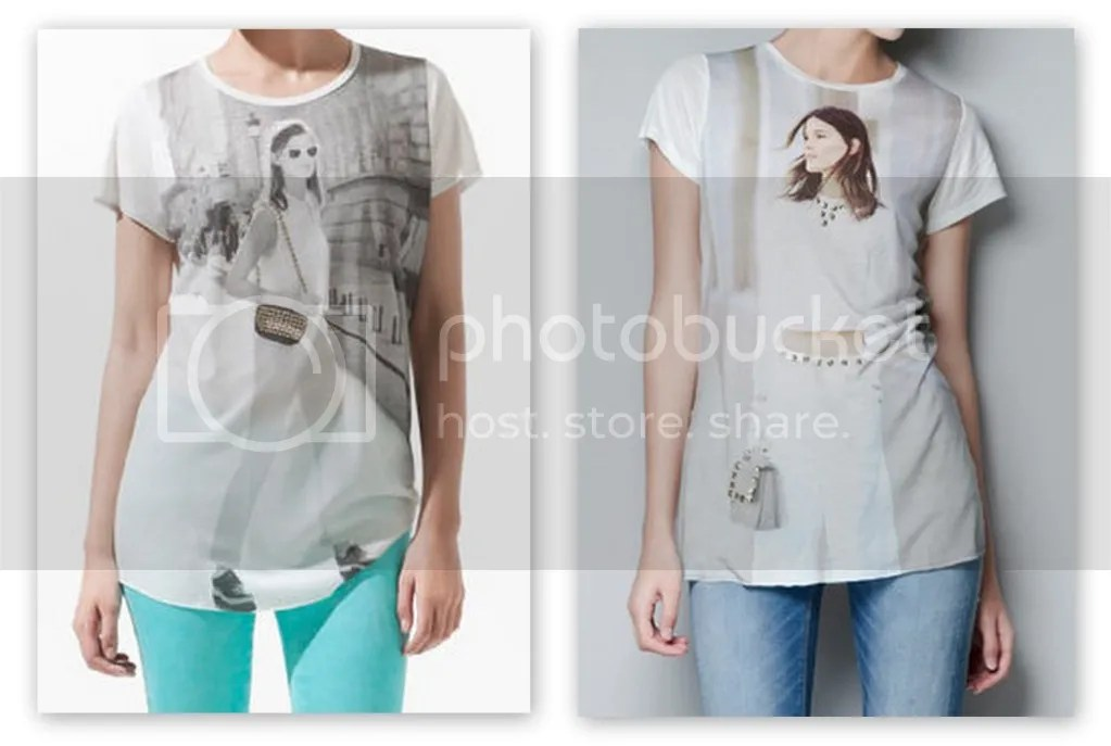 2012 ZARA Hanneli Mustaparta Immortalized T-Shirt