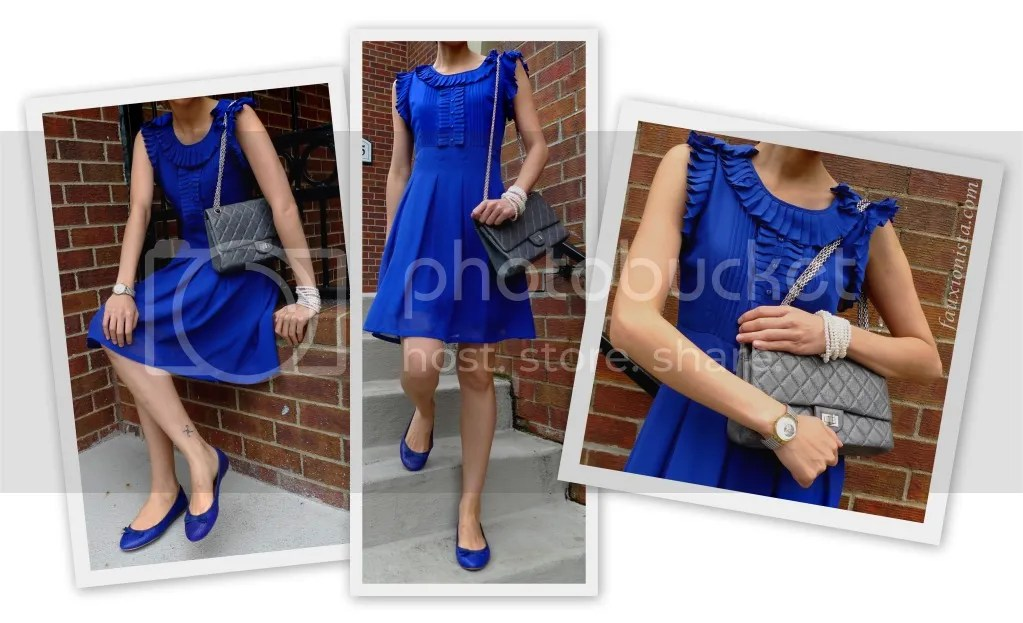 Monday Blues - Ruffled Dress