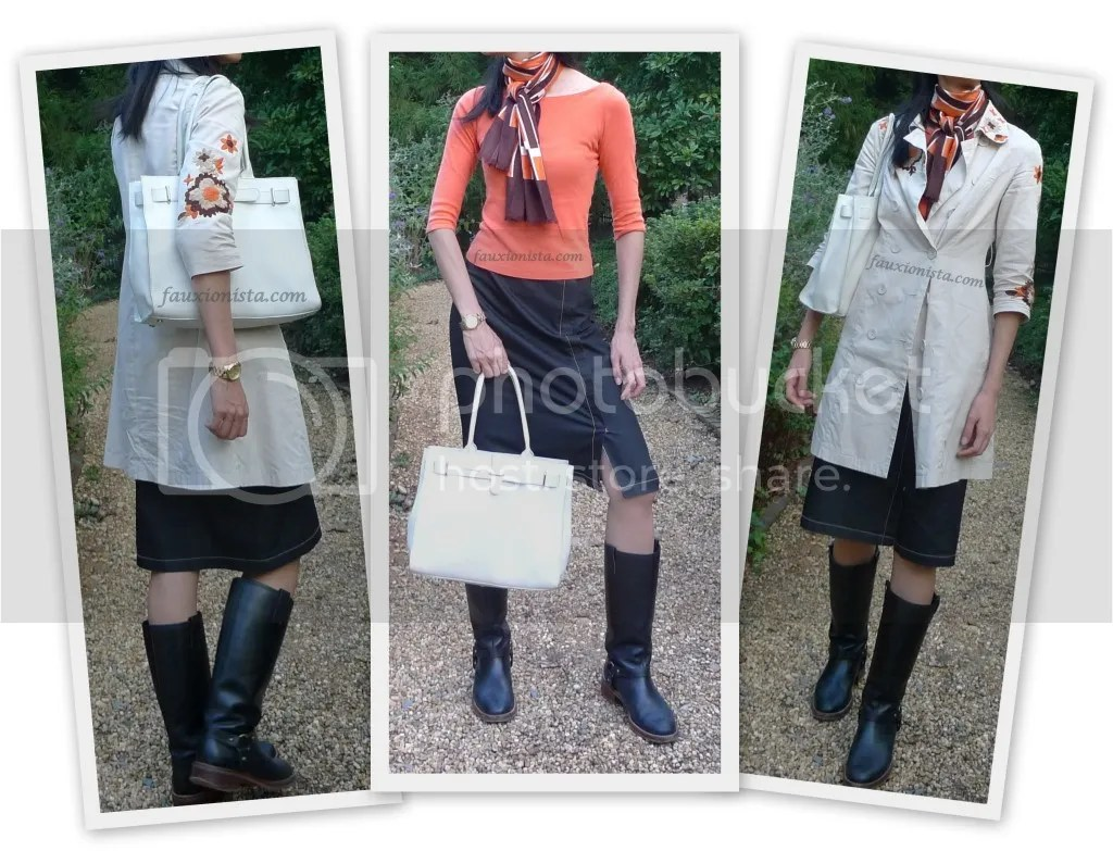 Fauxionable Outfit - Orange Crush Fall Michael Kors MK 5384 orange black brown