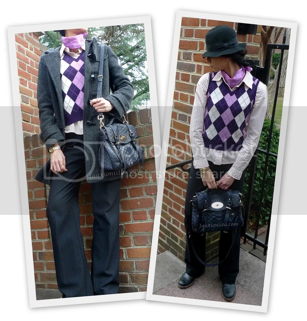 Fauxionable Outfit - Argyle & Pinstripes equestrian