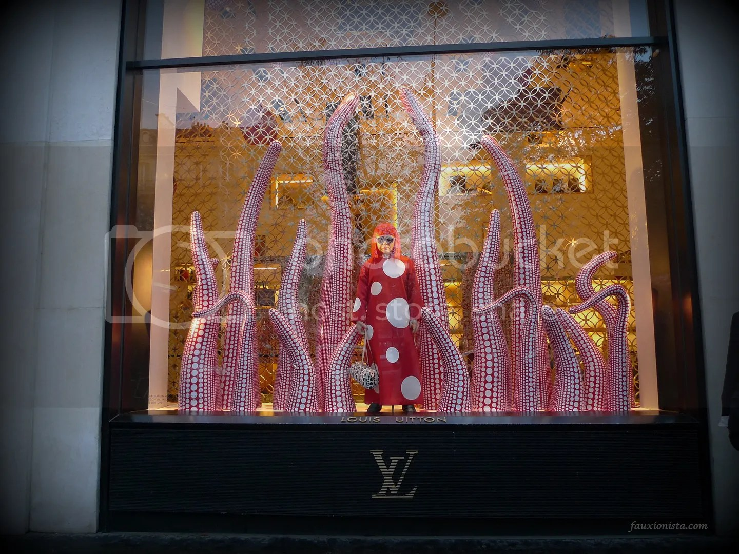 Yayoi Kusama Louis Vuitton Window Display Paris Flagship Store