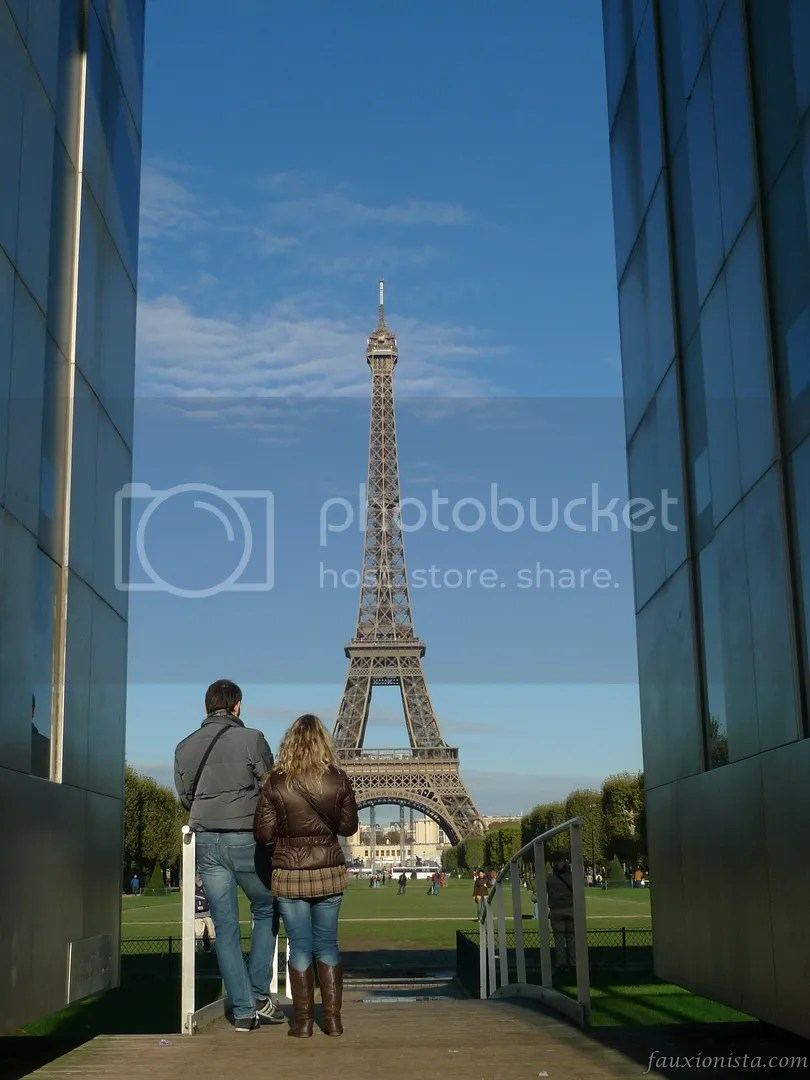 Eiffel Tower from Wall of Peace