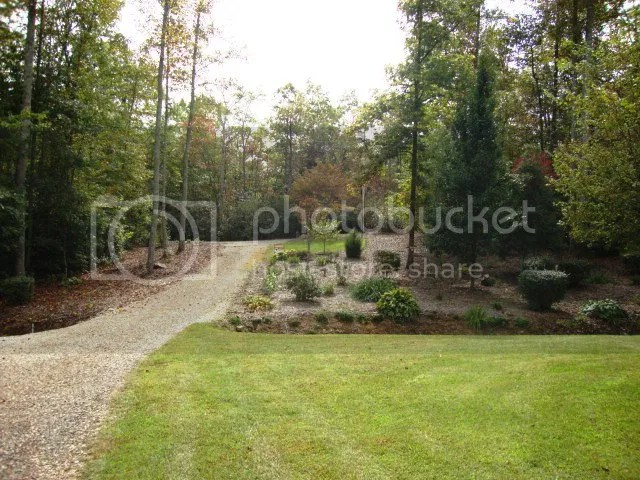 The grounds are beautifully landscaped, Cabin in Otto NC, Smoky Mountain Properties for Sale, Baldhead the Realtor
