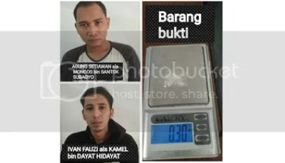 Satker Narkoba Polres Subang, Bekuk 2 Bandar Narkoba
