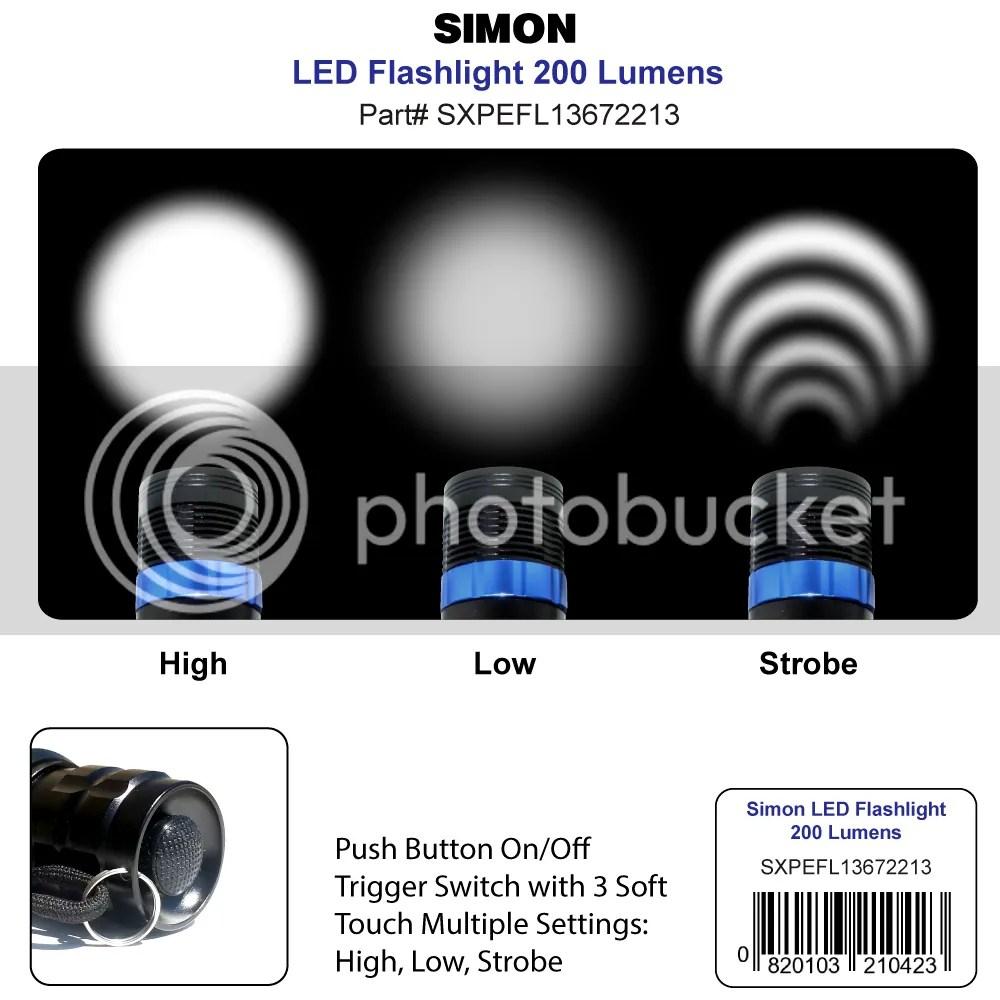 Simon XPE Light Beam Modes