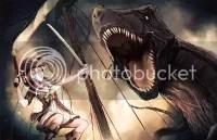 Pirate San vs T-Rex