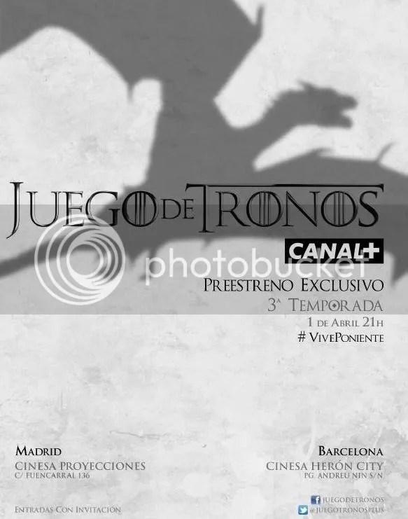 3ª temporada Juego de Tronos