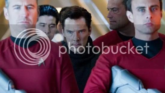 Benedict Cumberbatch en el set de Star Trek: Into Darkness
