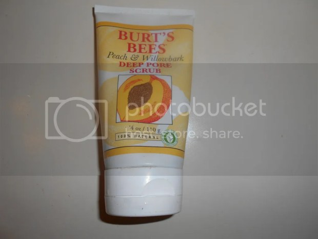 burt's bees deep pore scub peach & willowbark review
