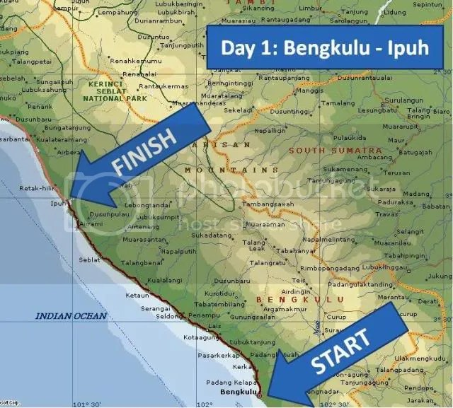Day 1 - Bengkulu - Ipuh Map