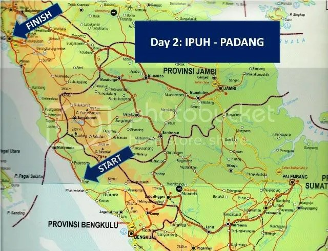 Ipuh-Padang Route Map