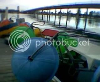 Multi-coloured boats