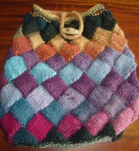 Entrelac bag front