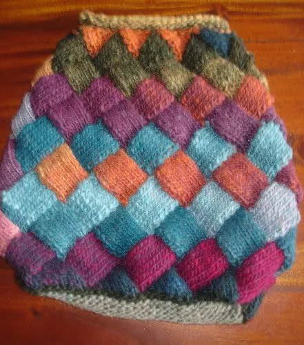 Entrelac Bag Back