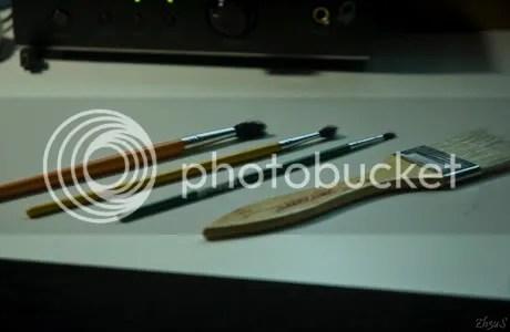 Right - Left: Stigka 50mm Custer, Koila 5mm AP, Imps 8mm HE, Joks 15mm Ammo ^^;