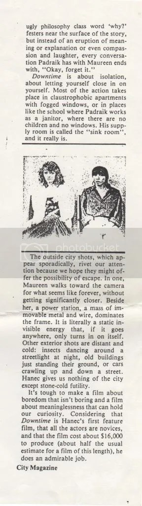 downtime city magazine article 1985
