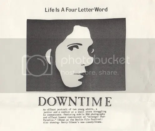 Downtime image cover poster 1985