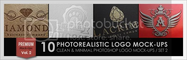 10 Photorealistic Logo Mock-Ups / Set 1 - 1