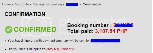 Confirmed Booking AirAsia