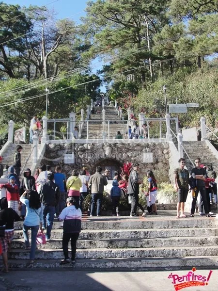 Baguio Day Tour - Stairs to the Lourdes Grotto