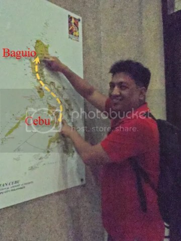 Baguio City on the Map - Baguio DIY Cheap Tour