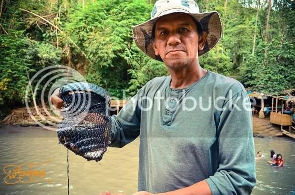 Fishing at Bunga Falls