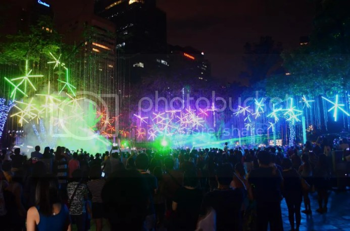 Laser Light Show Ayala 2014 every night until January 4