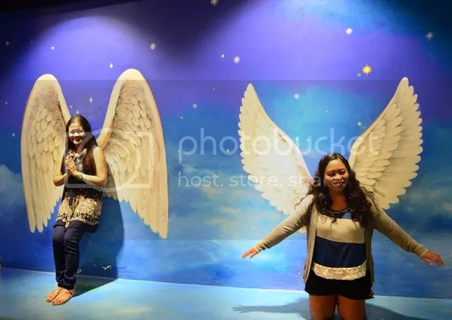 Angels at the Trick Art Museum
