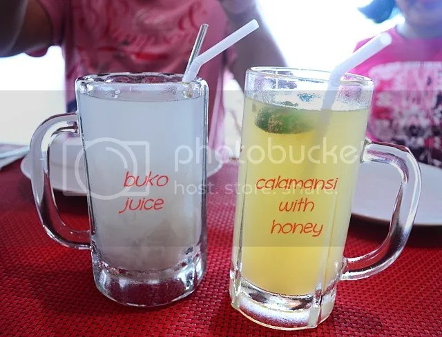 Oriental Spice Menu - drinks choices