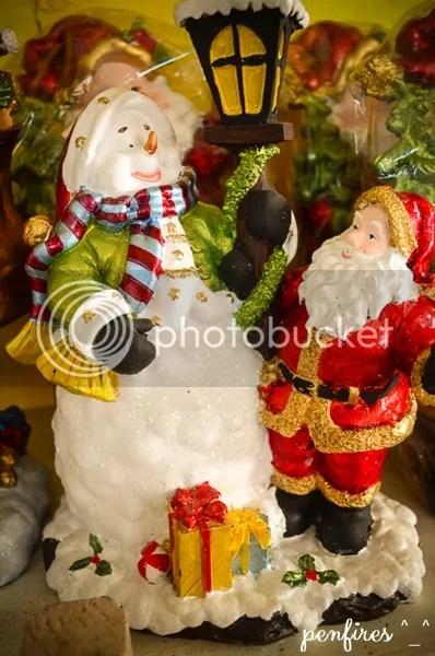Snowman and Santa Christmas Decor