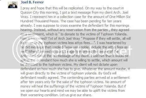 Yolanda Story of Kindness