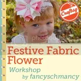 Festive Fabric Flower Workshop Badge