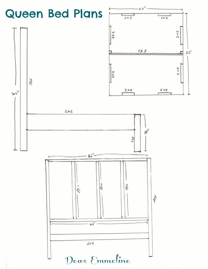 wood bed frames and headboards plans