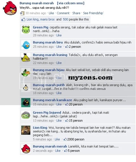 angrybirdmainfesbuk.png Angry bird, Update status facebook, angry bird main fesbuk, angry bird playing facebook, angry bird and the pig green