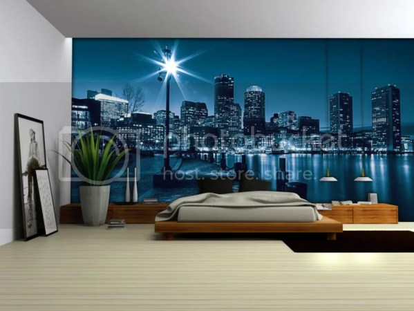 photo wall murals city by night wall mural 2017 - Grasscloth Wallpaper