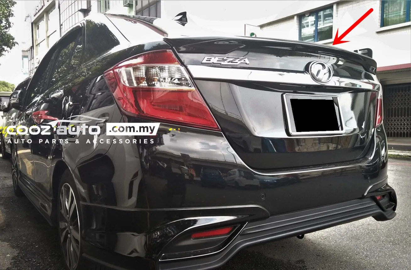 Side door moulding with chrome line. Perodua Bezza Gear Up Rear Spoiler (end 10/10/2021 12:00 AM)