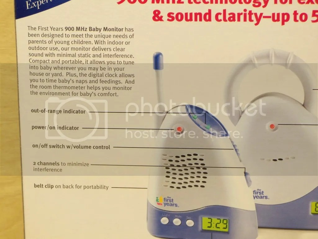 900 Mhz Baby Monitor The First Years 500 Range Digital