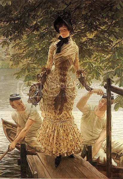 James Tissot - On the Thames, 1874