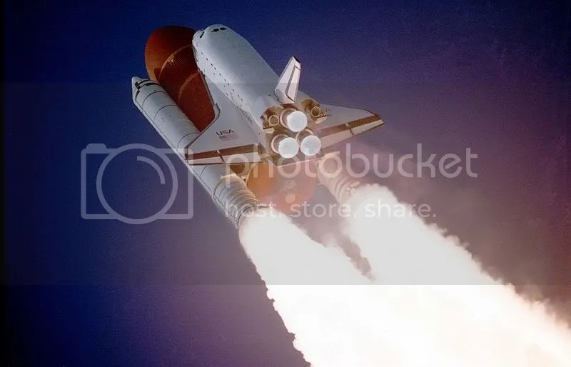 Shuttle launch, 1988.
