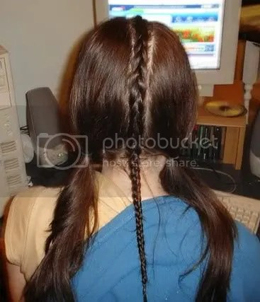 Photo of singular cornrow