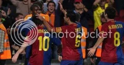 Xavi & Messi & Iniesta