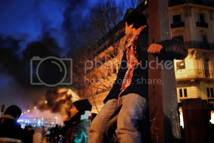 Rassemblement unitaire en soutien au peuple Palestinien place de l'Opéra à Paris le 27-12-08  (4/5)