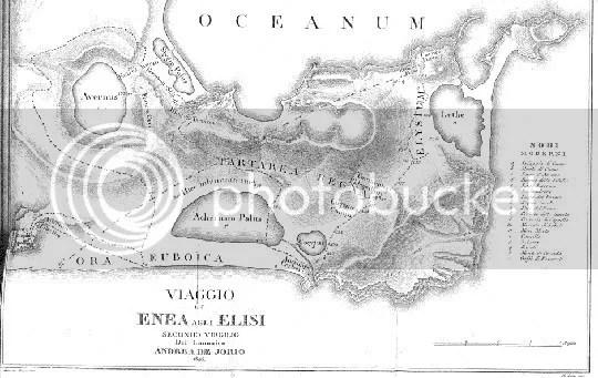 Mapa do Hades segundo Virgílio